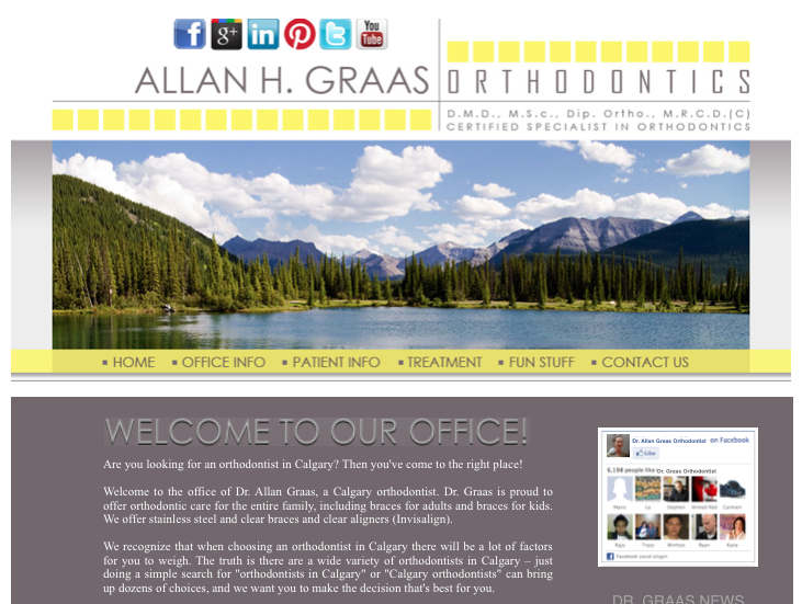 calgary orthodontist Dr Graas website 2012